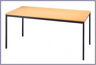 Konferenztisch mit Vierkant-Rohr VEKTOR 160 x 80cm Buche / Schwarz