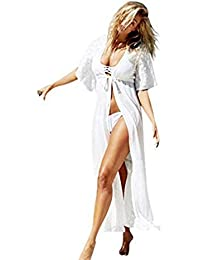 4e12b55a4 Live It Style It Womens Beach Cover up Chiffon Kimono Cardigan Shirt Top  Cape…