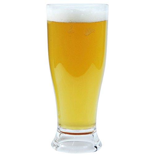 Viva Haushaltswaren – 2 x bruchfestes Bierglas ca. 350 ml, Longdrinkglas, Cocktailglas, Gläser Set aus hochwertigem Kunststoff (Polycarbonat), edle Gläser für Camping, Partys (wie echtes Glas) - 5