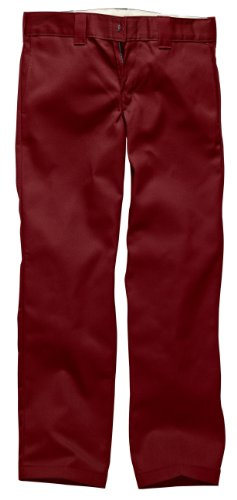 Dickies Sforwardslashstght Work Pant, Pantalon de Sport Homme Rouge (Aged Brick)