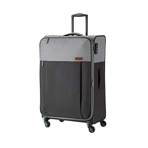 Travelite Leichtes lässiges  Surferlook Trolley Koffer 77 cm, 92 L, Marine/Blau