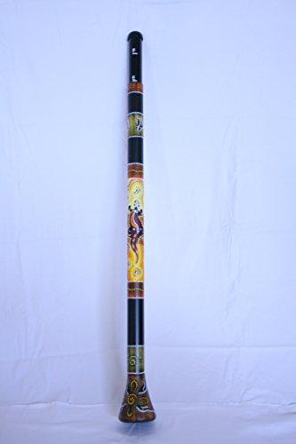 Slide Didgeridoo - mit Tierbemalung Gecko + Nylon Tasche gepolstert -