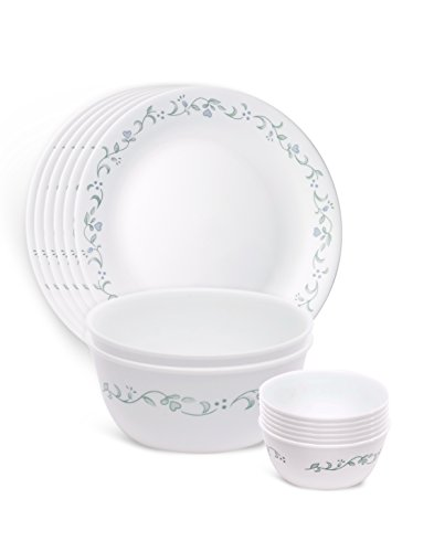 Corelle Livingware Country Cottage Dinner Set, 14 -Pieces