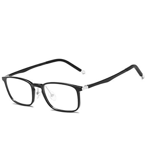 Mkulxina Anti-Blaulicht-Brillen-Silikon-Nasenpads, leichte Business-Computer-Schutzbrillen für Damen und Herren (Color : Black)