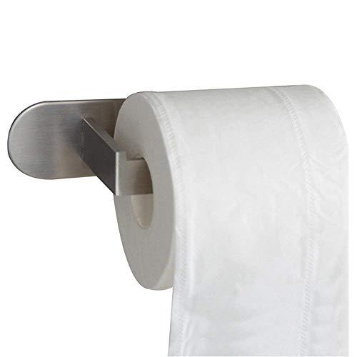 CASEWIND Silber Modern Toilettenpapierhalter Klorollenhalter Aus Edelstahl Gebürstet Finished Oberfläche Ohne Bohren Wand Badezimmer Accessoires