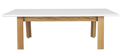 tenzo 5950-454 Profil Designer Couchtisch, 38 x 120 x 60 cm, weiß/Eiche