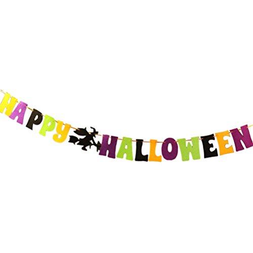Tinksky HAPPY HALLOWEEN Girlande Banner Bunting Ornament Banner für Halloween Party (Halloween Banner Happy)