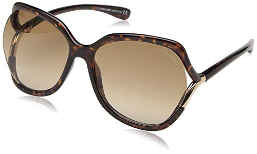 Tom Ford Unisex-Erwachsene FT0578 52F 60 Sonnenbrille, Braun (Avana Scura/Marrone Grad),
