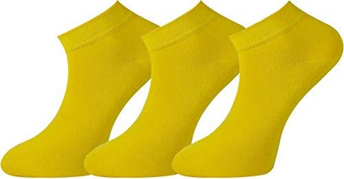 Calcetines tobilleros amarillos unisex
