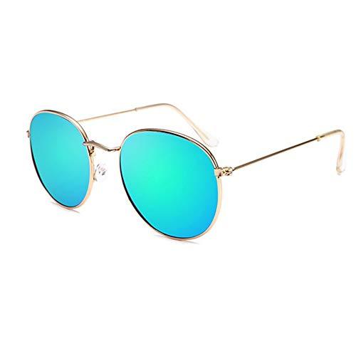 Sonnenbrille Retro Runde Sonnenbrille Frauen Männer Designer Sonnenbrillen Für Frauen Legierung Spiegel Sonnenbrille Kleine Gesicht Frauen Gold Grün