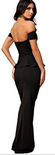 SunIfSnow - Chemise de nuit spécial grossesse - Moulante - Manches Courtes - Femme Noir