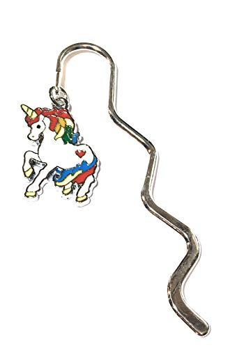 FizzyButton Gifts Emaille RegenbogenUnicorn Charme Mini Lesezeichen in Geschenktüte