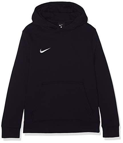 Schwarze Fleece-sweatshirt (Nike Unisex-Erwachsene Y HOODIE PO FLC TM CLUB19 Sweatshirt, Schwarz (Black/White/010), Gr. L)
