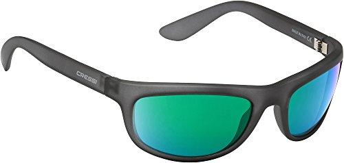 Cressi Wolf Sonnenbrille, Grau/Verspiegelt Linsen Grün, One Size
