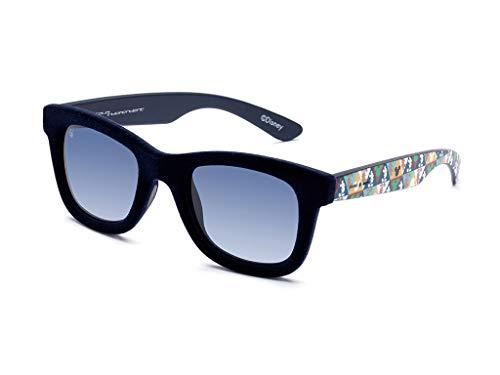 Italia independent occhiali da sole unisex 0090v disney effetto velluto aste con mickey mouse (blu)