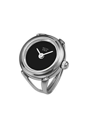 Davis - Ring Watch 4185 - Anello Orologio Donna -Quadrante Nero-Regolabile
