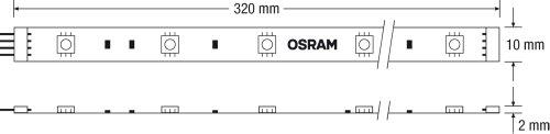 OSRAM flexible LED-Streifen 1 Meter Länge Deco Flex Starter-Set / selbstklebend / dimmbar / für farbige und weiße Lichtakzente / Farbsteuerung RGB - 10