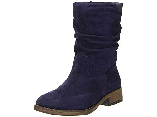 Tamaris Damen Stiefel 25472-21,Frauen Boots,Reißverschluss,Blockabsatz 3cm,Navy,EU 37