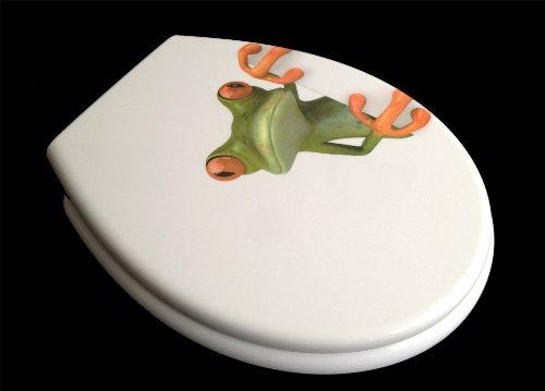 ADOB Duroplast WC Sitz Klobrille Modell Frosch mit Absenkautomatik, zur Reinigung abnehmbar, 59850
