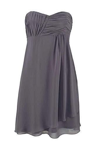 Laura Scott Evening Damen-Kleid Chiffon-Cocktailkleid Grau Größe 40