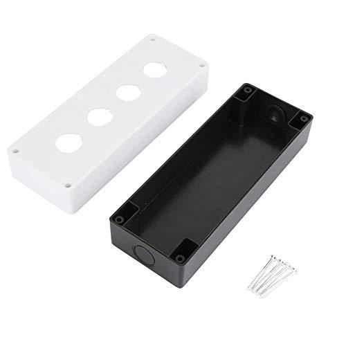 BX4 22mm Switch Box, Vier-Loch-Drucktaste Switch Control Box Schutzhülle Wasserdicht(Weiß) -