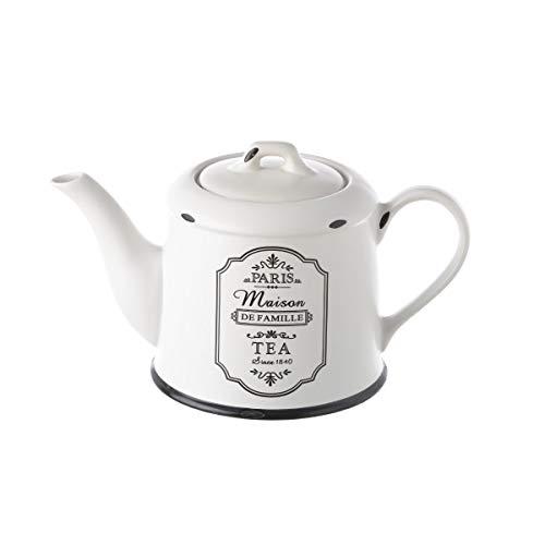 Tetera de 1 litro Vintage Negra de cerámica para Cocina France - LOLAhome