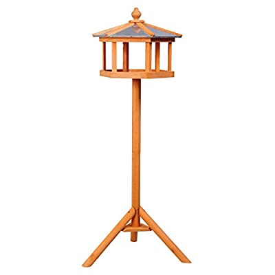 PawHut Deluxe Bird Stand Feeder Table Feeding Station Wooden Garden Wood Coop Parrot Stand 113cm High NEW from Sold by MHSTAR