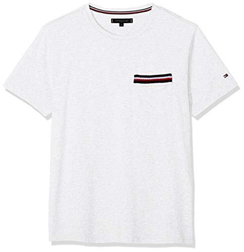 73b697ab Tommy Hilfiger Corp Pocket Tee, T- T-Shirt Homme, Weiß (Bright
