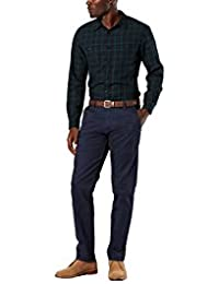 Dockers Men's Alpha Khaki Stretch Slim Tapered Fit Flat Front Pant