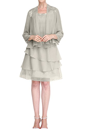 Missdressy -  Vestito  - linea ad a - Donna Grau