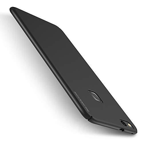 X-level Huawei P10 Lite Hülle, [Kinght Serie] Hart Handlich [Schwarz] Premium PC Material Gutes Gefühl Handyhülle Schutzhülle für Huawei P10 Lite Case Cover