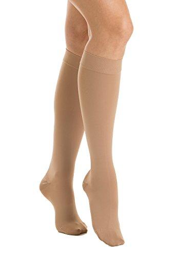 Relaxsan M2150 (Beige, Tg.5) Calcetines a la rodilla ortopédicos compresión graduada médica clase 2 - K2 microfibra
