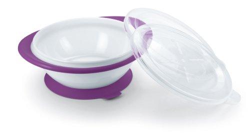 NUK Easy Learning Esslernschale für Kinder ab 6 Monaten mit Saugnapf, zwei Deckel, BPA frei