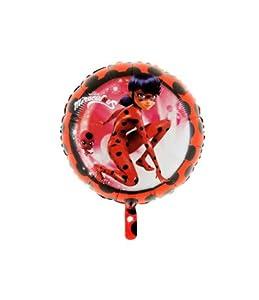 """grabo balón de papel de aluminio 18""""""""-45cm miraculus-lady Bug No confeccionada, Color Negro y Rojo, l18030"""