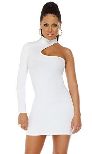 Forplay Mini (Blvd Collection by Forplay Damen Mini-Kleid, einärmelig - Weiß - X-Groß)