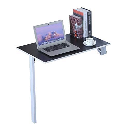 WRRAC-Tabelle Moderne Wand-Drop-Leaf-Tischregal Klammern Computer Esszimmer Küche Bürotisch Folding Laptop Schreibtisch Arbeitsplätze für kleine Räume Schwarz (80x50 cm) -