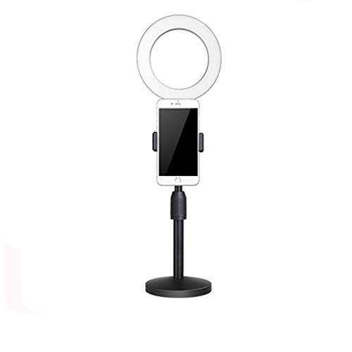 Anchor Ring Fill Light Desktop Stand, höhenverstellbare runde Basis Desktop Mount LED Ring Vlogging Video Licht -