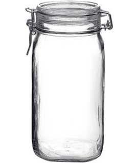s Fido Einmachglas 1,5l (54oz) Verriegelung Deckel Canning Glas Jar ()