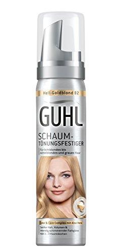 Guhl Schaum-Tönungsfestiger 82 Hell-Goldblond - 3er Pack (3x 75 ml) - mit Aloe Vera - schenkt sanften Halt - für lichtblondes bis mittelblondes und graues Haar