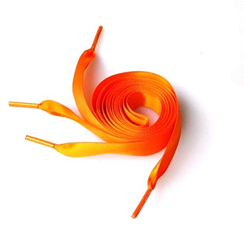 Yannay Innovativer Deko-Anhänger Paar 0,7 Mt Seidenband Schnürsenkel Mode Schnürsenkel Flache Shoestring für DIY Schuhe Dekoration (Orange)