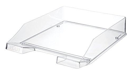 HAN 1026-X-23 Briefablage KLASSIK, DIN A4/C4, stapelbar, stabil (12er Spar-Pack, transparent-glasklar)