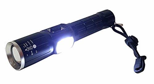 Und Blaue Blitzleuchten Weiße (Ultra Helle Profi Cree LED T6 Cree Chip 800 Lm 8600mAh Akku Taschenlampe Lampe Signallicht USB Zoom Modus Warnleuchte Warnlicht Blitzleuchte Blitzer Polizeilicht Blau Rot Weiß Licht NEU)