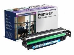 PrintMaster Cyan Toner Cartridge for HP Laserjet Enterprise 500 Color M551 Series, MFP M570 dn/-M575c, Canon LBP-7780 -