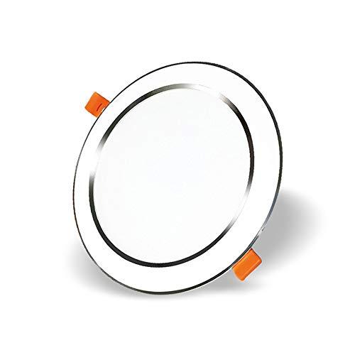Modenny Kommerzielle gerichtete Deckenleuchten Spotlights Aluminium Runde Einbau Panel Beleuchtung Deckenleuchte Energiesparende Blend-Home Küche Schlafzimmer Schrank Fixture (Größe : 12W)
