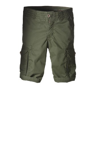 edc by ESPRIT Herren Shorts Cargo Bermuda - Loose fit 994CC2C906 Grün (Lake Green)
