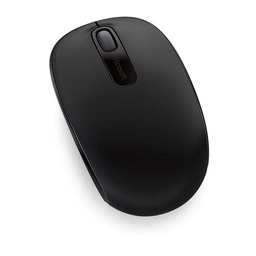 Microsoft – Wireless Mobile Mouse 1850, Inalámbrico, Negro