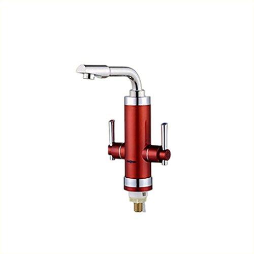 Schlauch-messer (Elektrischer Hahn 220V Doppelter Handgriff, Der HeißEr Warmwasserbereiter-KüChe-Warmwasser-Heizungs-KüChe-Messer-Gerade Schlauch-Licht-Abschnitt Ist , Red)