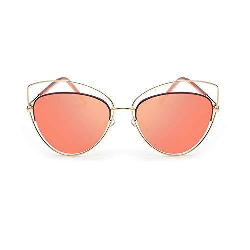 MoHHoM Sonnenbrille Übergroße Spiegel Rosa Sonnenbrille Cat Eye Vintage Sonnenbrille Frauen Weibliche Schattierungen Lady Sonnenbrille Großhandel Gold Rot