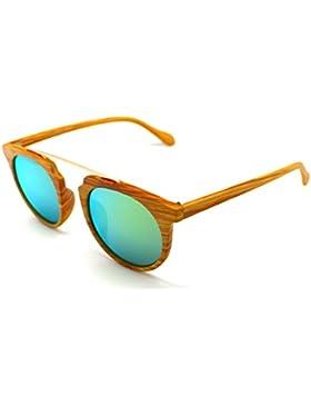 Gafas de Sol Gatsby Hombre Mujer Lagofree W7006 Madera UV 400 Sunglasses