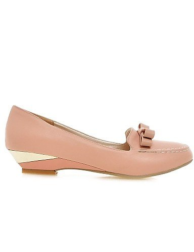 ZQ Scarpe Donna - Mocassini - Casual - Zeppe - Zeppa - Finta pelle - Rosa / Bianco / Beige , beige-us9 / eu40 / uk7 / cn41 , beige-us9 / eu40 / uk7 / cn41 white-us9.5-10 / eu41 / uk7.5-8 / cn42